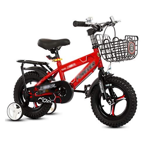Coche y Moto Bicicleta para niños Bicicleta de una Sola Velocidad Bicicleta de niño, niña y niño Bicicleta con Rueda...