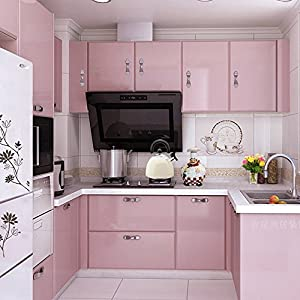 Yazi gloss self adhesive vinyl kitchen for Adhesive covering for kitchen cabinets