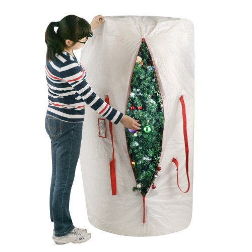 Elf Stor 30-Inch-by-60-Inch Christmas Tree Storage Bag, White