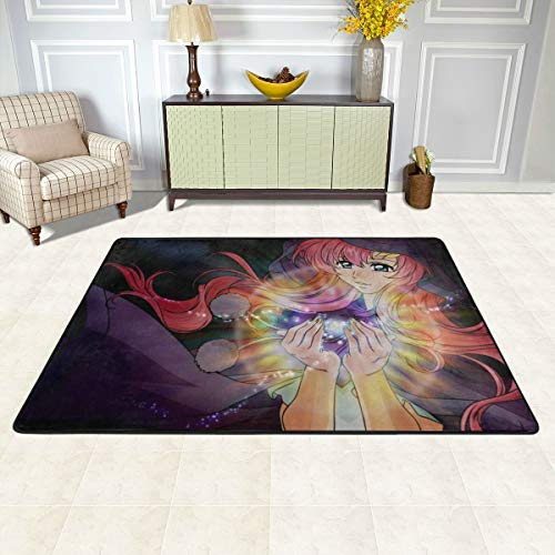 Angela R Mathews Gundam Seed-Lacus Non-Slip Carpet Area Rug Modern Flannel Microfiber Anime/Cartoon Rectangle Carpet Decor Floor Rug Living Room,Bedroom,Study Floor Mat 6' X 4'