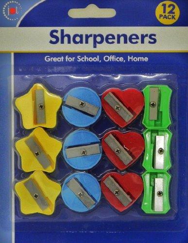 12 Pack 4 Colors 4 Style Pencil Sharpener (Walmart Pencil Sharpener)