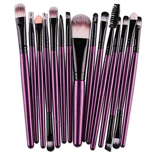 Etuoji 15 PCS Makeup Brushes Set Cosmetic Foundation Eyeshadow Lip Brush Makeup Tool Brush Sets