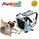 PET4FUN PN950 Foldable Pet Puppy Dog Cat Carrier & Travel Crate w/ Premium 600D Oxford Cloth, Strong Steel Frame, Carry Bag, Locking Zippers, Washable Nap Pad, Room Airy Windows (Small/Blue) Review