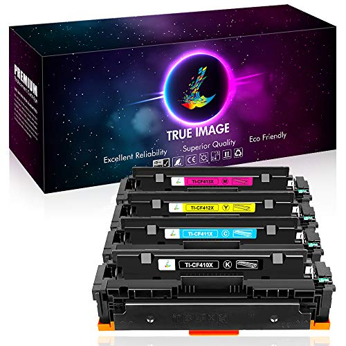 True Image Compatible Toner Cartridge Replacement for HP 131X CF210X Toner for HP 131A CF210A CF211A CF212A CF213A HP Laserjet Pro 200 Color M251nw M251n M251 M276n M276nw Canon MF8280Cw Printer Ink