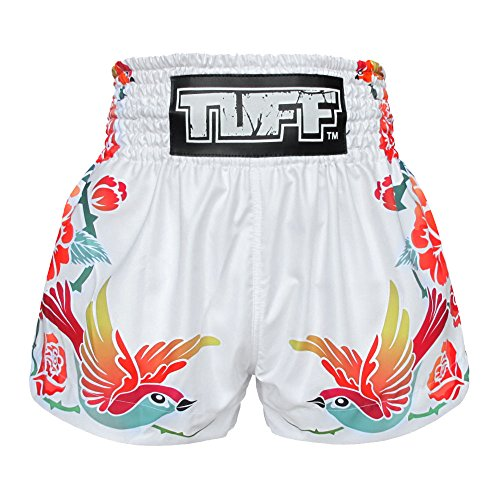 Tuff Muay Thai Shorts TUF-MS618-WHT-XL