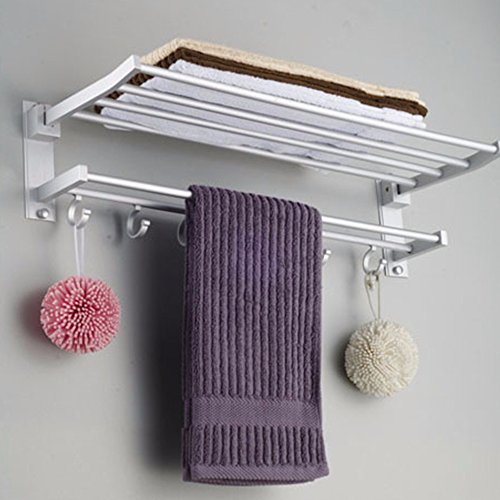 Hooker Bathroom Furniture (GreenSun(TM) Multi-function Foldable Alumimum Towel Bar Rack Tower Holder Hanger Bathroom Hotel Shelf Bathroom Accessories towel holder)