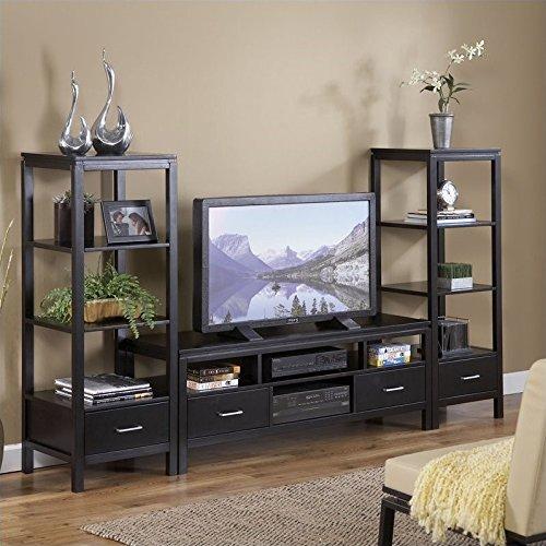Linon Sutton Plasma Center TV Stand and Towers Set ()