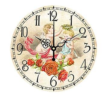 15aff79db19b WXIN Lion Tiger Big Numeral Reloj De Pared Grande Reloj Habitación Infantil  Decoración del Hogar Reloj De Pared Diseño Moderno para Niños - Rojo