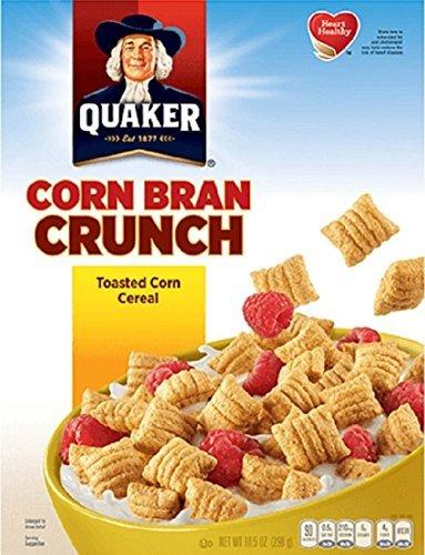 Quaker, Corn Bran Crunch Cereal, 10.5oz Box (Pack of 5) (Crunchy Corn Bran)
