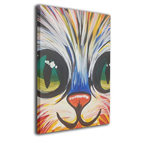 Baerg Kitty Face Frameless Decorative Painting Wall Art for Home and Office Decorations