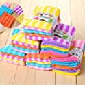 5-Count Fanala Cloth Double-Sided Striped Absorbent Cleaning Towels