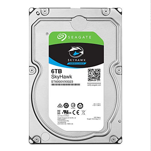 Seagate Skyhawk 6TB Surveillance Internal Hard Drive HDD - 3.5 Inch SATA 6GB/s 256MB Cache for DVR NVR Security Camera System with Drive Health Management - Frustration Free Packaging (ST6000VX001) by Seagate (Image #1)