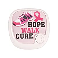 Pink Awareness Ribbon Pedometer 2 x 1 x 2 Batteries included. Plastic.