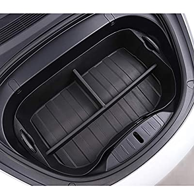 XTechnor Tesla Model 3 Frunk Organizer Front Trunk Mats Cargo Liner Carpet All Weather Heavy Duty with 3 Separate Spaces- Tesla Model 3 Accessories: Automotive
