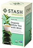 Cheap Stash Tea Organic White Tea with Mint 18 Count Tea Bags in Foil (Pack of 6) Individual Organic White Tea Bags for Use in Teapots Mugs or Cups, Brew Hot Tea or Iced Tea