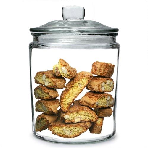 Utopia Biscotti Jar Medium 1.9ltr | Food Storage Jar, Glass Jar, Push Top Jar Drinkstuff