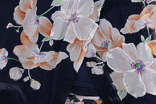 Floreale Dress Vestito Chiffon Abito Maxi 38 Estate Halter Vestiti Primavera Donna Lungo Vestito 42 floreale 40 collo 36 34 qRw8Rd