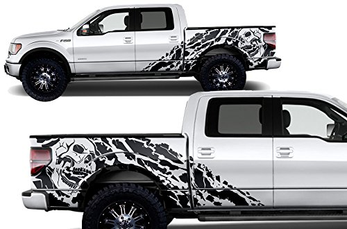 (Factory Crafts Nightmare Side Graphics Kit 3M Vinyl Decal Wrap Compatible with Ford F-150 SuperCrew 5.5 Bed 2009-2014 - Matte Black)