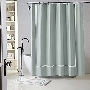 WamsuttaR Baratta Stitch 54 Inch X 78 Stall Shower Curtain In Seaglass