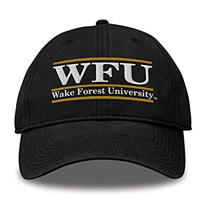 The Game NCAA Wake Forest Demon Deacons Bar Design Classic Relaxed Twil Hat, Black, Adjustable by MV CORP. INC