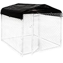 Weatherguard Black CL 00300 5-Feet Width X 5-Feet Length Kennel Frame and Cover Set