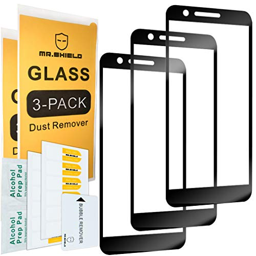 [3-Pack]-Mr Shield for LG Xpression Plus [Japan Tempered Glass] [9H Hardness] [Full Cover] Screen Protector with Lifetime Replacement - Lg Xpression Cover