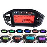 TR.OD Universal LCD Digital Backlight Motorcycle Odometer Speedometer Tachometer Gauge