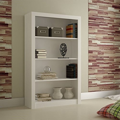 Manhattan Comfort Olinda 2.0 Series 4 Shelf Bookcase in White