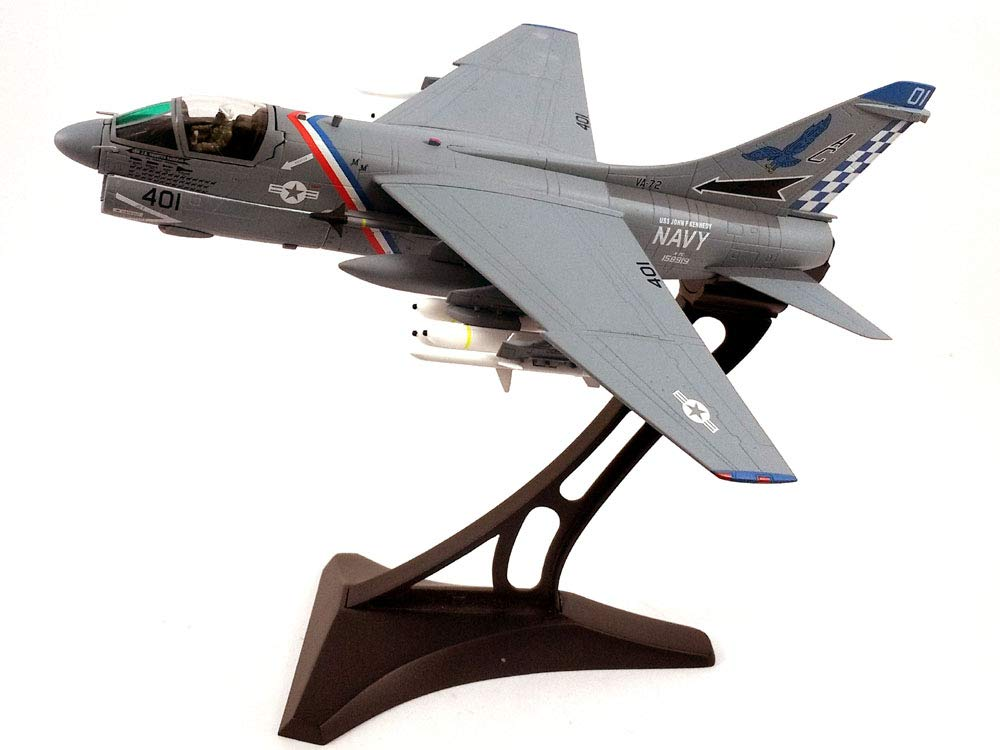 Vought A-7E (A-7) Corsair II - VA-72 Blue Hawks with Display Stand 1/72 Scale Diecast Model Airplane