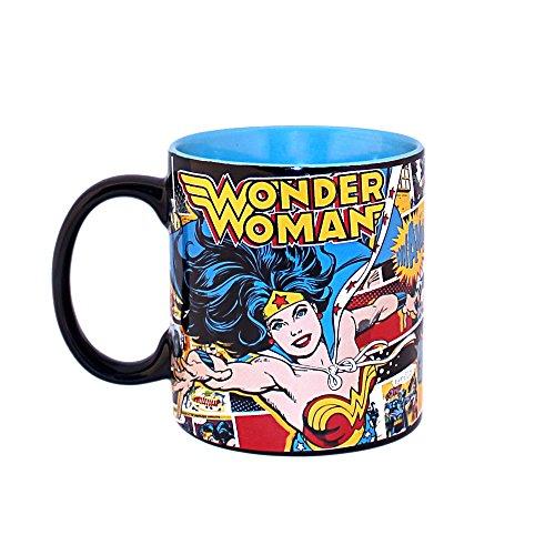 Silver Buffalo WW9734 DC Comics Wonder Woman Comic Pop Jumbo Ceramic Mug, 20-Ounces