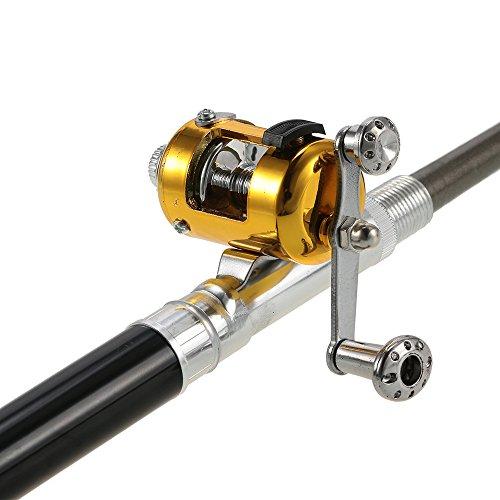 Lixada fishing rod reel combo set mini telescopic portable for Mini fishing reel
