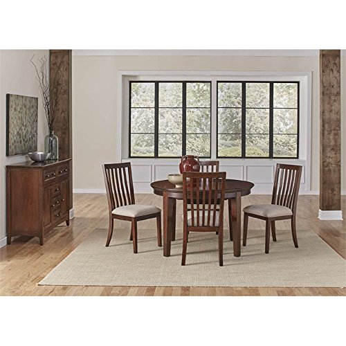 A-America Westlake 6 Piece Oval Extendable Dining Set in Cherry Brown