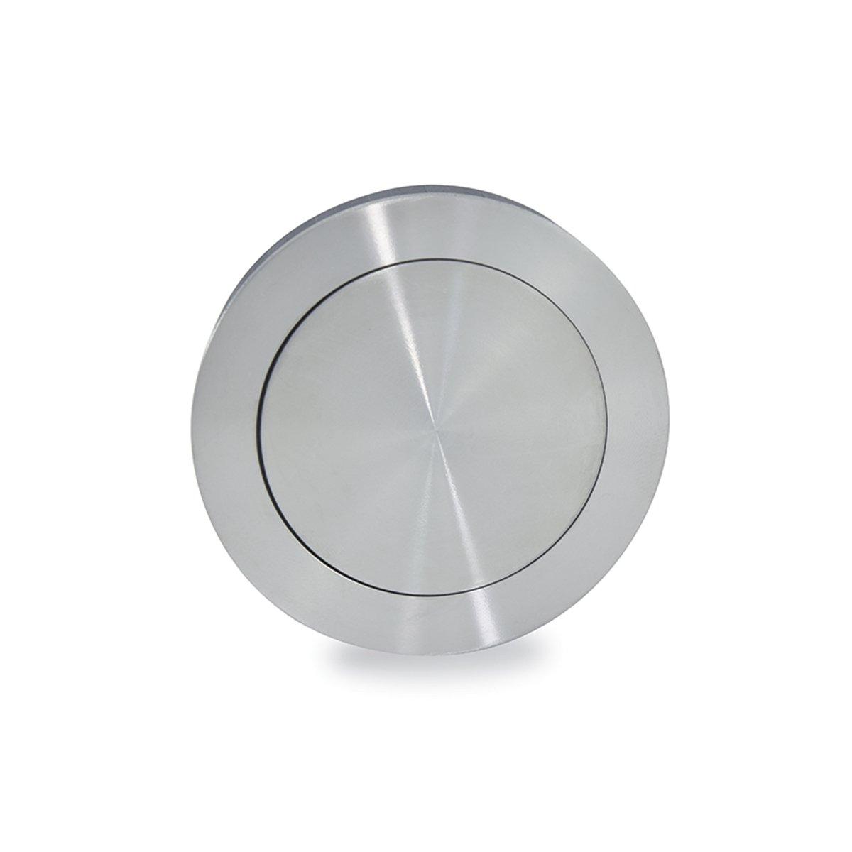 Jako WFH110X75PSS Round Flush Pull - Polish Stainless Steel, Diameter 2 61/64''