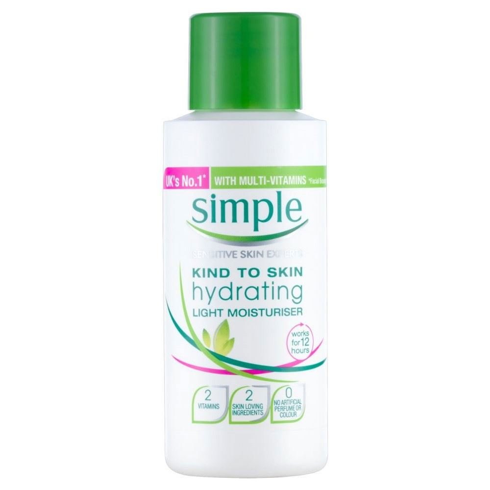 Simple Kind to Skin Hydrating Light Moisturiser (50ml) - Pack of 2 by Simple Groceries