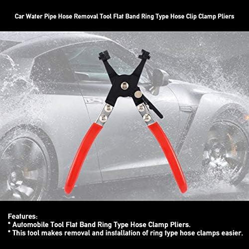 車の水パイプホース取り外しツールフラットバンドリング型ホースクリップクランププライヤー-ブラック