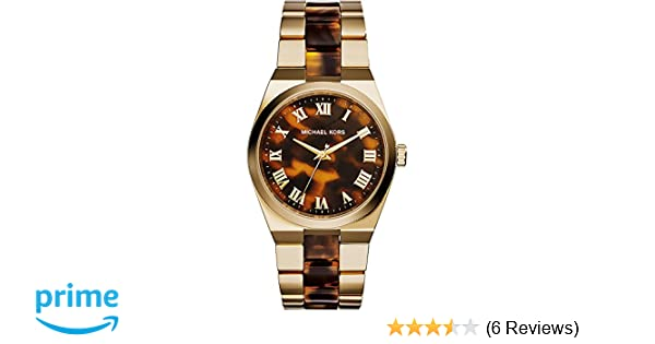 32d0f725adac Amazon.com  Michael Kors Women s MK6151 Two-Tone Brown Stainless Steel Watch   Michael Kors  Watches