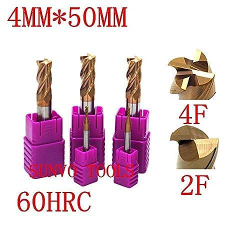 5PCS 4mm HRC45 2  flutes Tungsten Carbide End Mill milling cutter for aluminum