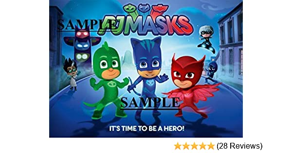Amazon.com: PJ Mask Owlette, Catboy, Gecko, Luna Girl & Romeo Image 1/4 Frosting Sheet Edible Cake Picture Topper: Toys & Games