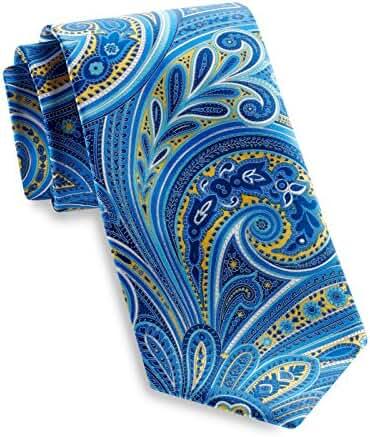Geoffrey Beene Swirly Paisley Silk Tie Water