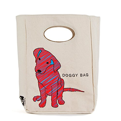 Fluf Classic Lunch, Organic Cotton Lunch Bags (Doggy Bag)