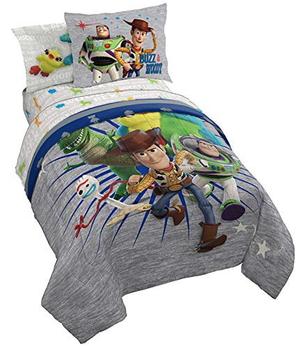 Jay Franco Disney Pixar Story 4 All The Toys Twin Bed Set,
