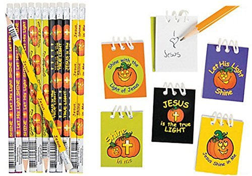 Christian Pumpkin Notepad and Pencils (48 Pieces) by FX