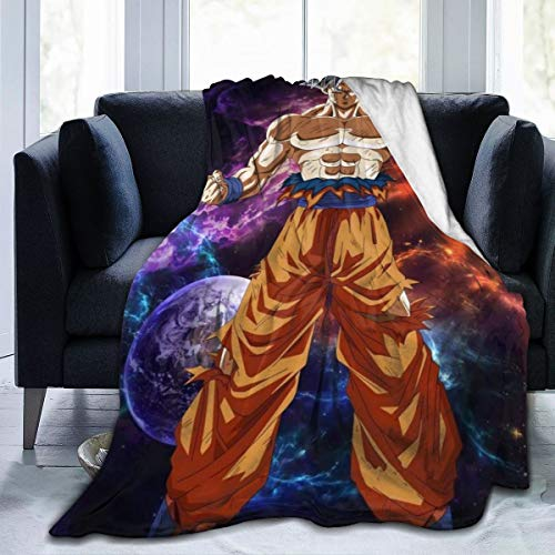 KATHERINECOLE Dragon Ball Z Home Microplush Fleece Blanket - Throw/Travel - Ultra-Soft Velvet - Luxurious Fuzzy Fleece Fur - Cozy Lightweight - Easy Care - All Season Premium Bed Blanket 50