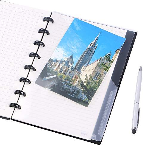Eagle Discbound Pocket Divider,Plastic 2-Pocket, Junior Size,for Discbound Planner/Notebooks,Pack of 2