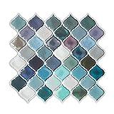 "Arabesque Peel and Stick Tile Backsplash, Anti Corrosion Self Stick Backsplash for Kitchen 10""x11"" Pack of 10"