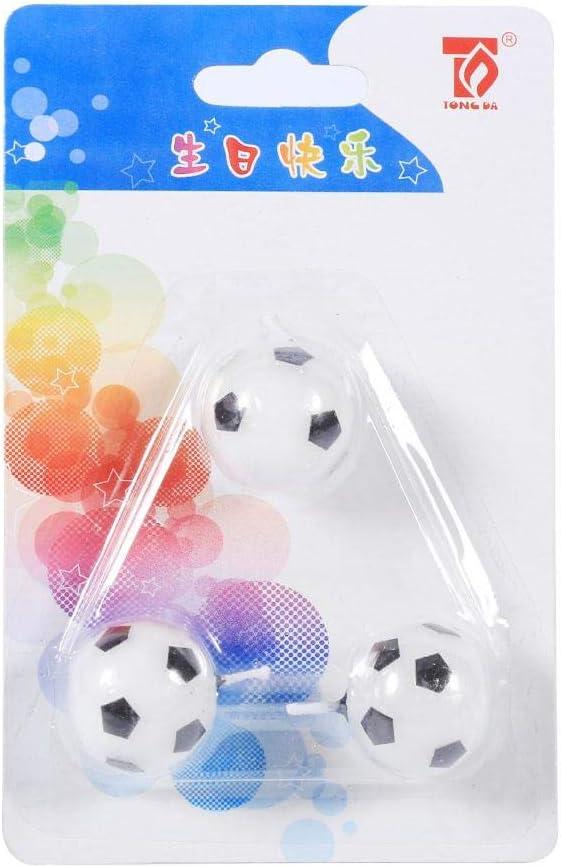 Nitrip - Juego de 3 Velas de balón de fútbol para Fiesta de ...