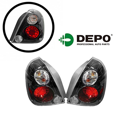 For Nissan Altima 02 03 04 05 06 Led Carbon Fiber Tail Light Lamp With Bulb (Led Tail Lights Carbon Fiber)