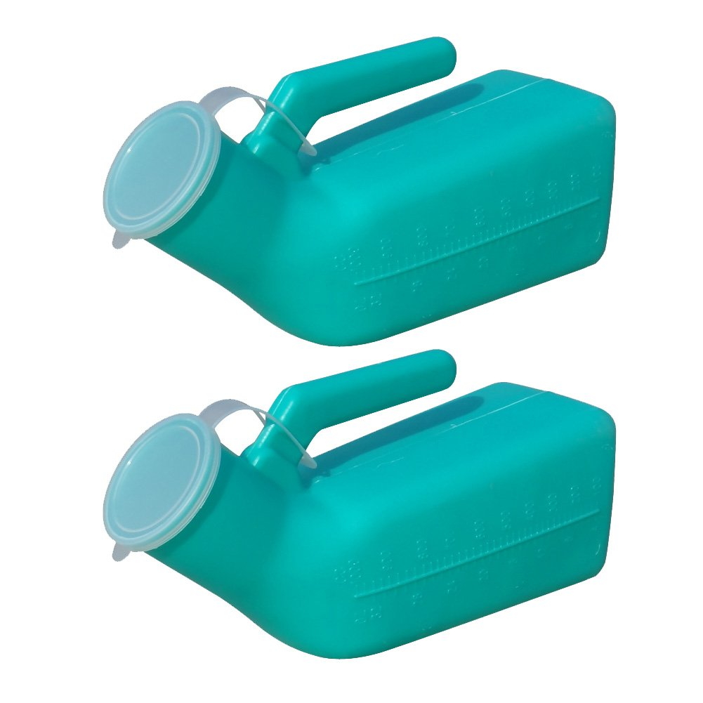 Ibnotuiy Portable Thick Urinal Urine Bottle Urine Collector with Lid for Male