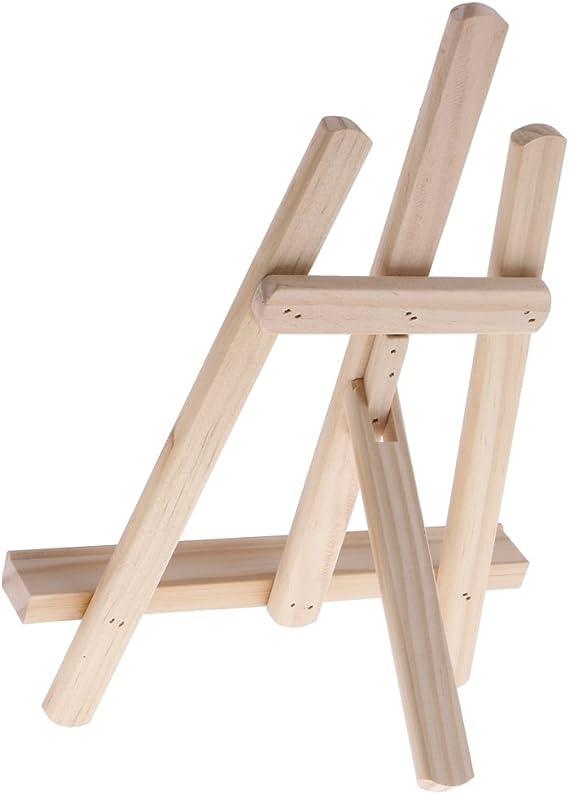 NUOBESTY 2pcs Cadre chevalet en Bois Mini Triangle Rack Photo Peinture Affichage Support de Support de tr/épied Portable