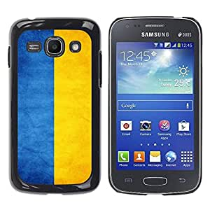 Paccase / SLIM PC / Aliminium Casa Carcasa Funda Case Cover - National Flag Nation Country Ukraine - Samsung Galaxy Ace 3 GT-S7270 GT-S7275 GT-S7272